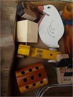 CIGAR BOX, PURSE, MISCELLANOUS ITEMS