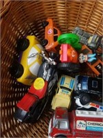BASKET OF BOOKS AND TOYS