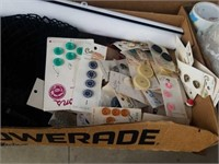 SHOE SIZE DEVICE, FIRST AID KIT, BUTTONS,
