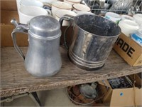 FLOWER SIFTER, MILK CONTAINER,  COFFEE CUPS