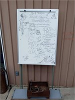 DRY ERASE BOARD AND METAL ITEMS