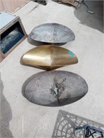 GRAIN SCALE CONTAINERS, BRASS AND METAL