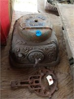 ANTIQUE STOVE DOOR AND  NAME PLATES