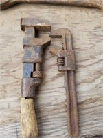 ANTIQUE PIPE WRENCGES, AND WRENCHES