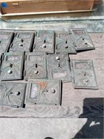 12 BRASS POST OFFICE BOX DOORS