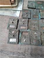 17 BRASS POST OFFICE BOX DOORS