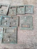 10 BRASS POST OFFICE BOX DOORS