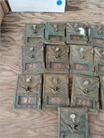 13 BRASS POST OFFICE BOX DOORS