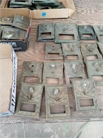19 BRASS POST OFFICE BOX DOORS