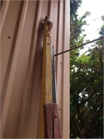 WOOD HITCH AND SIDE BOARD
