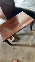 WALNUT COFFEE TABLE & RUG