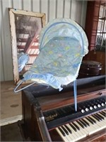 VINTAGE BABY CHANGING STATION AND ROCKER