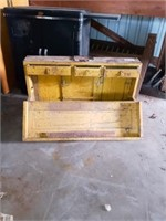 SOLID WOOD ANTIQUE TOOL BOX