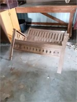 PORCH SWINGING CHAIR, NOT COMPLETE