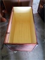 LARGE WOOD CRATE BOX