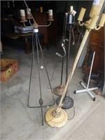 4 ANTIQUE LAMPS
