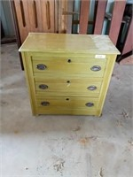 SMALL GREEN 3 DRAWER CHEST OF DRAWERS DRESSER