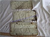 50s-60s LICENSE PLATES,