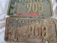1973 LICENSE PLATES