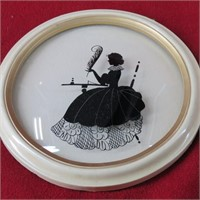 Collection of 11 Vintage Silhouette Pictures