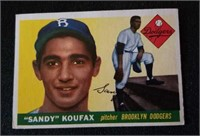 1955 Topps Sandy Koufax rookie card #123