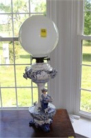 Figural Oil Lamp