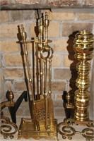 Brass Fireplace Irons/Set