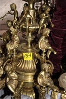 Brass Chandelier w/ cherubs
