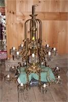 Crystal & Brass Chandelier