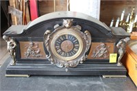 Mantle Clock With Figural