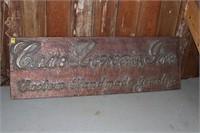 Copper Hammered Sign