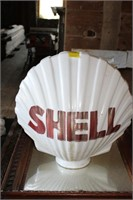 Milk Glass Shell Gas Pump Globe