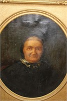Oil On Canvas Of A Woman