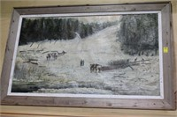 Logging Painting By L.M. Felch