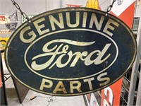 Genuine Ford Parts Tin Screen Print Hanging Sign