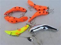 Heddon Tadpolly, Kwik Fish, Etc