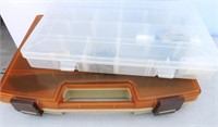 Tackle Box & Plastic Container W/ Contents