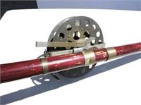 Antique Rod & Reel W/ Manual Brake