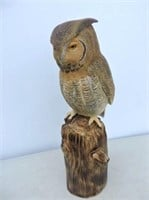 Carved Great Horned Owl By Wayne Inkster
