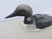 Arctic Loon Carved By Wayne Inkster