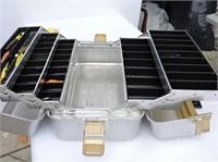 Aluminum Tackle Box & Contents