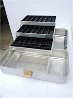 "Aluminum Tackle Box 18""x9x8"