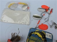 Spinners, Worm Harnesses, Squid, Etc