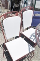 """42"""" Glass Top Wrought Iron  Table & 4 Chairs"""