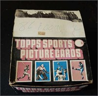 1986 Topps Football Rack Pack Box
