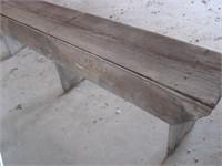6' x 1' wood bench