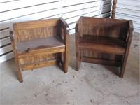 Wood step shelves
