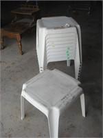Square plastic tables