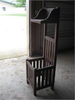 Wood umbrella stand