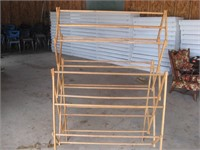 Wood solar dryer rack
